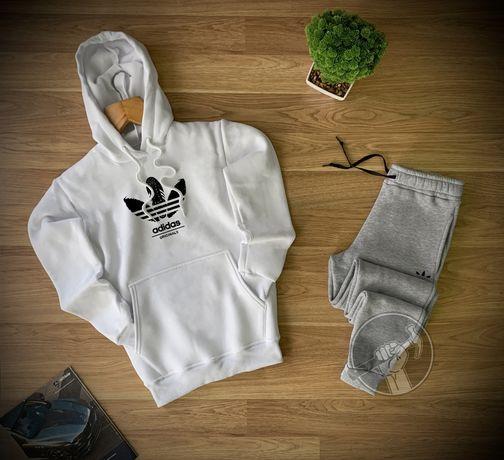 Мужской спортивный костюм Adidas. 5 вариантов. Худи + штаны. Зима.