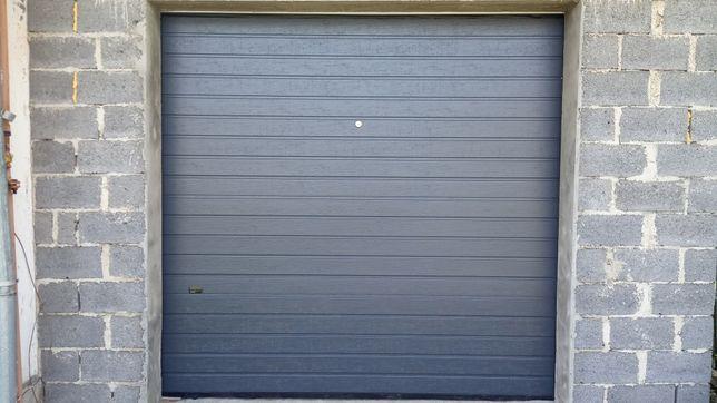 Акційні гаражні секційні ворота Alutech trend 2400*2100 антрацит