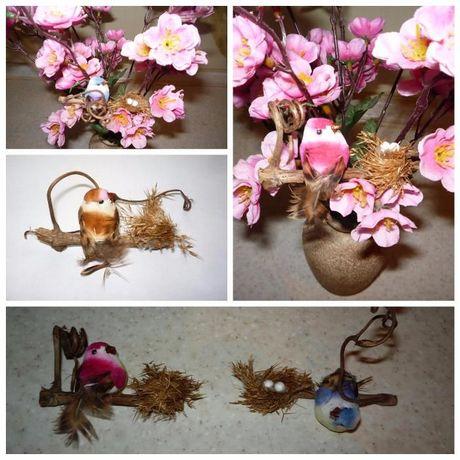 Птичка с гнездышком поделки рукоделия элементы декора, декор