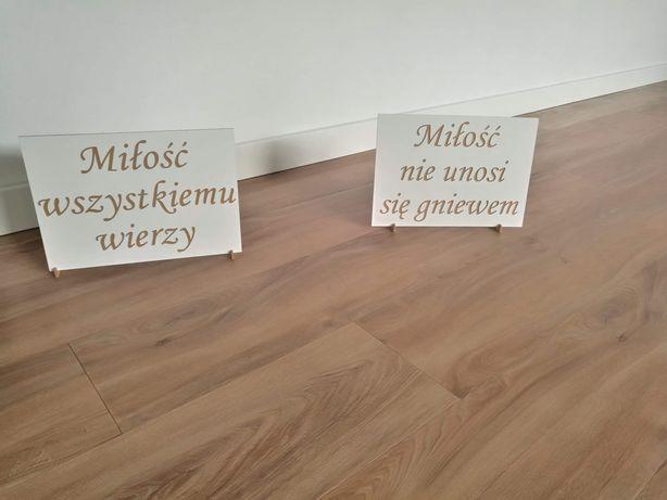 Tabliczki HYMN O MILOSCI 12szt.