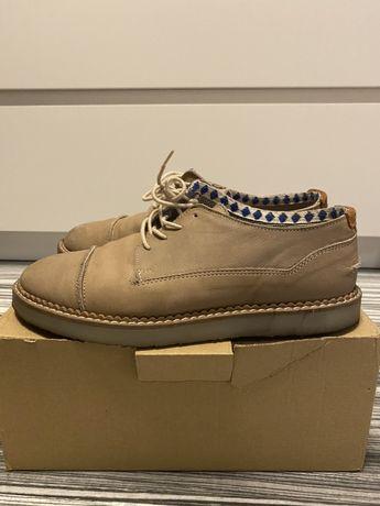 Skórzane, eleganckie buty półbuty Zara Kids rozmiar 35