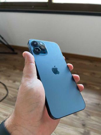 iPhone 12 Pro Max 256GB azul-pacífico com AppleCare+ e bateria 100%