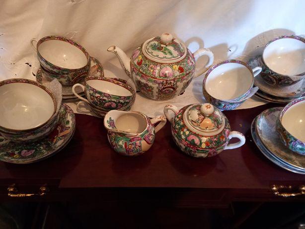 Serviço de chá de porcelana chinesa Mandarim