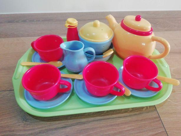 Serviço de chá com tabuleiro