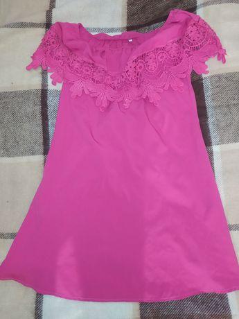 Летние, розовое платье