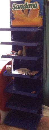 Торговый стеллаж, витрина  / метал.вертушка под открытки на 24 кармана