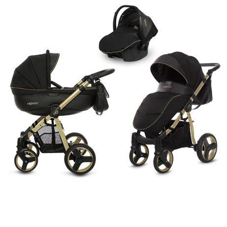 Wózek 3w1 Babyactive Mommy czarno złoty