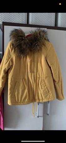Żołta kurtka zimowa xs croop