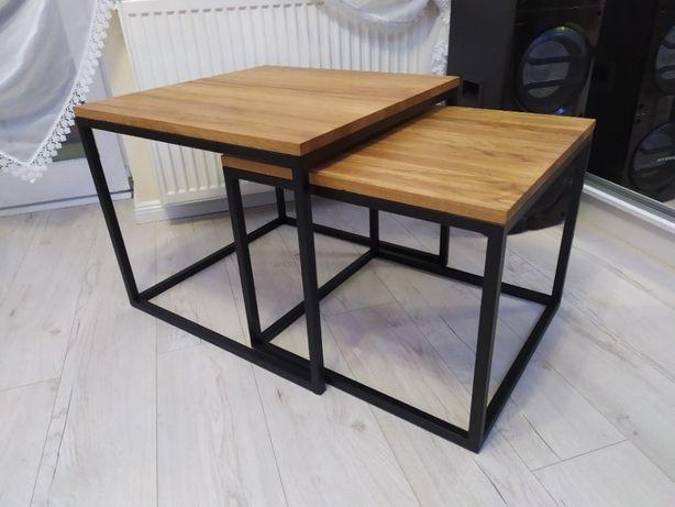Dębowy stolik 2 w 1 loft