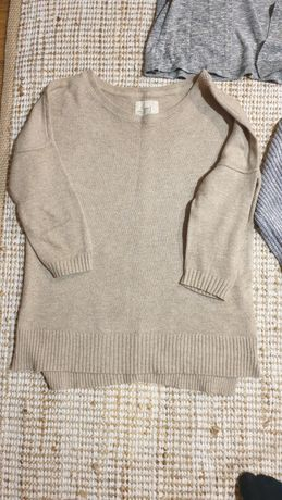 Sweter h&m beżowy