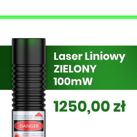 Laser Liniowy Zielony 100 mW   do obróbki drewna i kamieni