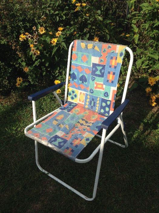3 krzesła turystyczne do renowacji - odbiór osobisty Węgorzewo - image 1