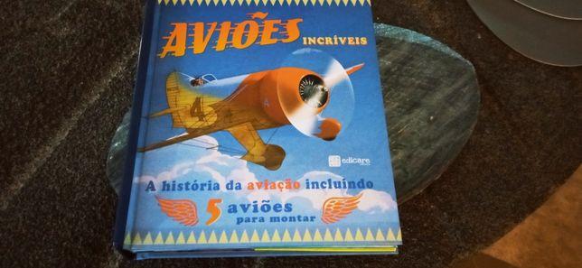 Livro maquetes de aviões incríveis