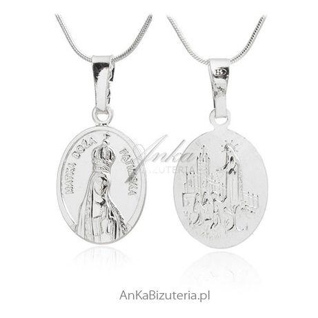 ankabizuteria.pl Medalik srebrny - Matka Boża Fatimska