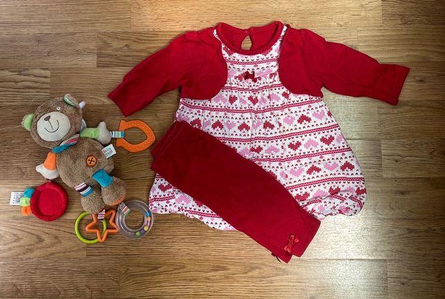 Детский костюм (кофта и лосины)на девочку