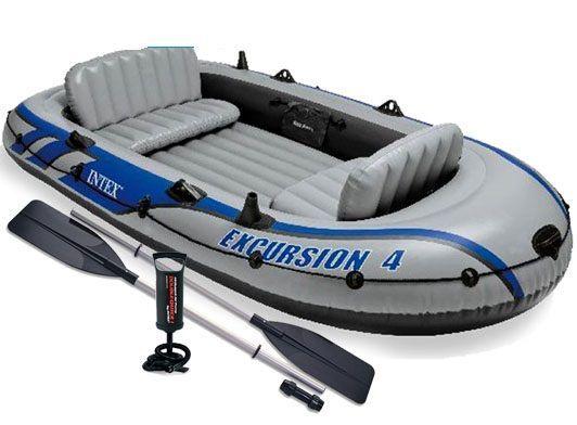 Трехкамерная надувная лодка под транец Intex 68324 EXCURSION 4 Set