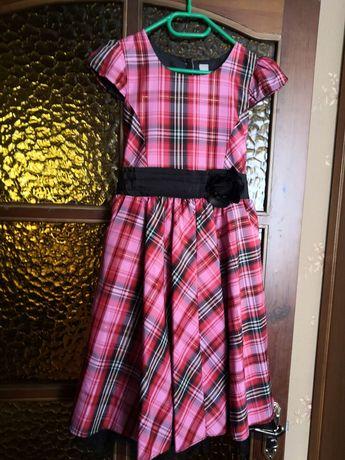 Платье нарядное в клетку 146 см 11 лет