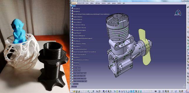 Serviços de desenho 2D/3D e impressão 3D (Orçamento Gratuito)