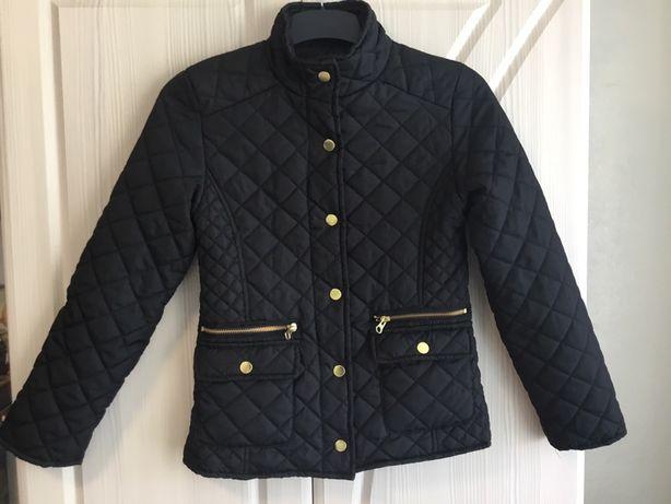 Стеганная курточка на девочку 8-10 лет апрель-май