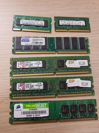 Pamięć ram DDR 2Gb 1Gb PC3 10600S PC3200 kingston Good ram samsung