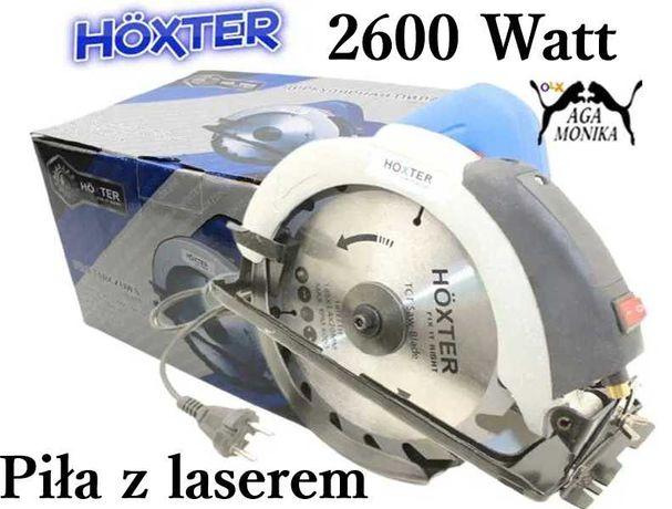 Piła Tarczowa Z Laserem 2600W HOXTER + Tarcza