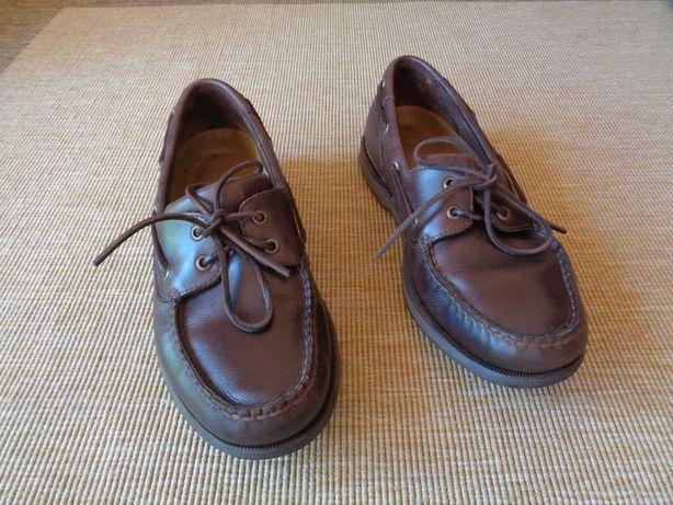 Sapatos de vela em pele Rockport Perth - Castanhos - Tam. 43