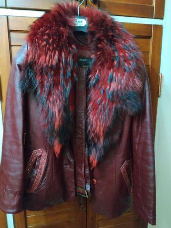 Кожаная курточка р.46 новая полностью натуральная
