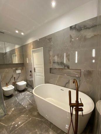 Generalne remonty łazienek, z pełnym montażem. Układanie plytek