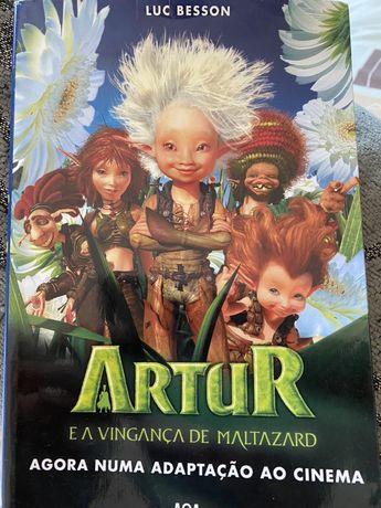 Livro Artur e a Vingança de Maltazard