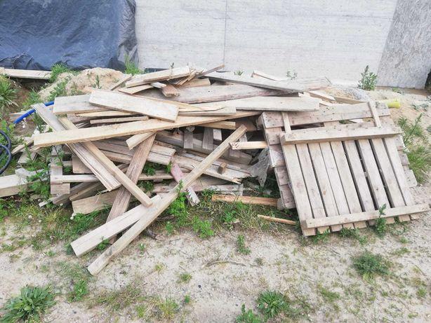 Deski po szalunkach , drewno