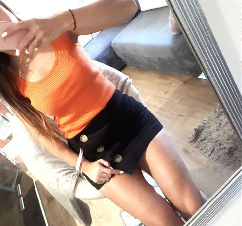 Pomarańczowa bluzka bokserka
