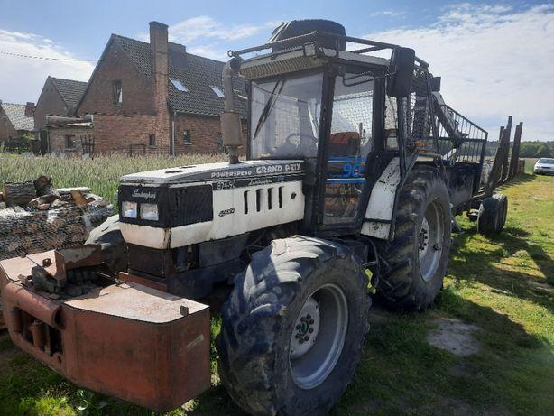Zestaw do zrywki,traktor,ciągnik z wyposażeniem,przyczepa zrywkowa