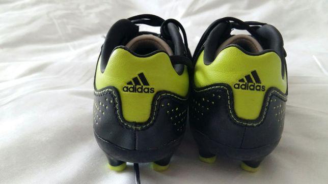 Футбольные кроссовки бутсы Adidas кожаные р.28