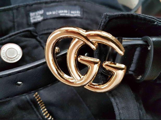 Pasek skóra bydlęca logowany Gucci