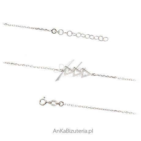 ankabizuteria.pl srebro pruba 925 Biżuteria srebrna - bransoletka trój