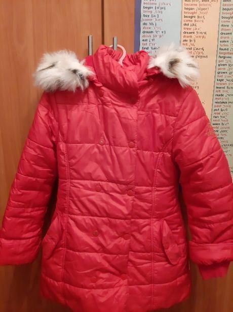 Зимняя курточка-пальто Бемби для девочки