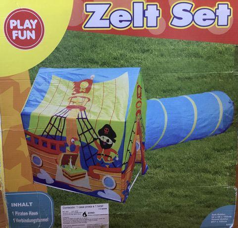 Casinha de pirata infantil, com tunél.