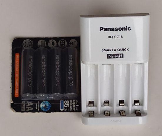 szybka ładowarka Panasonic BQ-CC16 + 4x Eneloop Pro