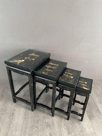 Набор винтажных столиков в стиле Шинуазри