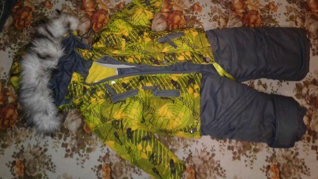 Зимний костюм - комбинезон и куртка, р-р 80