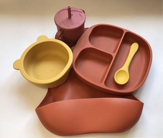 Силиконовая посуда для детей/ детская силиконовая посуда