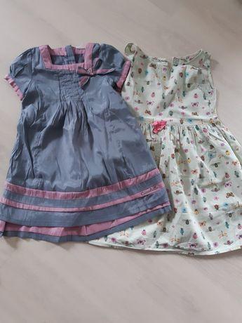 Sukienki h&m coccodrillo 116 5-6 lat (18 zł za 2 sztuki)