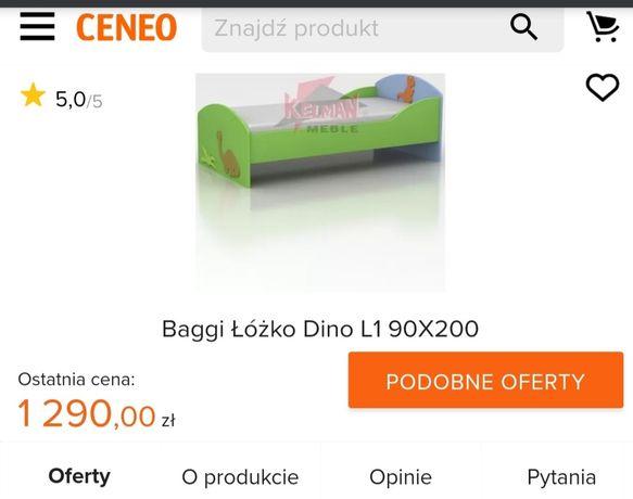 Łóżko dziecięce 90x200 firmy Baggy seria Dino World