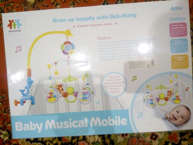 Музыкальный мобиль на детскую кроватку