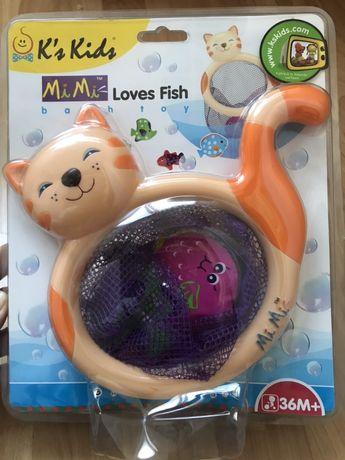 Ks Kids — Сачок Кошка Ми-Ми с рыбками (для купания)