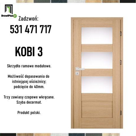 Polskie drzwi wewnętrzne z opcją dopasowania do futryn.