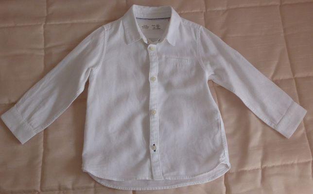 Camisa branca menino 2/3 - Zara