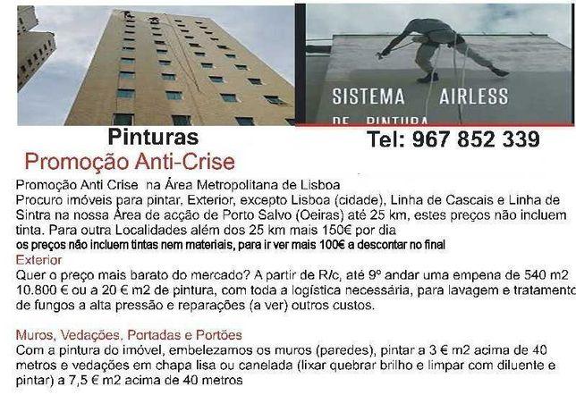 Pintor de constr. civil, em Rapel, Algés a Cascais da Amadora a Sintra