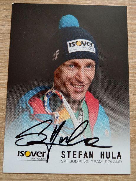 Oryginalny autograf STEFAN HULA skoki narciarskie Reprezentant Polski