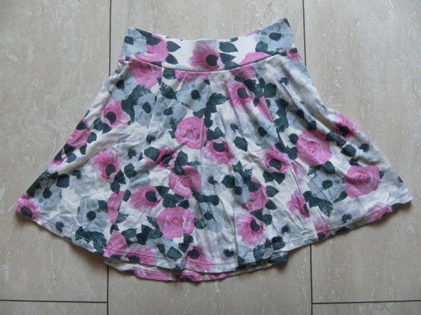 Rozkloszowana mini spódniczka H&M 34,XS w kwiaty